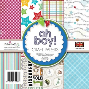 """Polkadoodles Oh Boy! 6x6 Inch Paper Pack (PD8068) Oh Boy! 6"