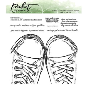 Walk, Crawl or Run Clear Stamps (BB-133)