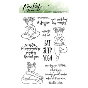 Eat Sleep Yoga Clear Stamps (BFF-108)