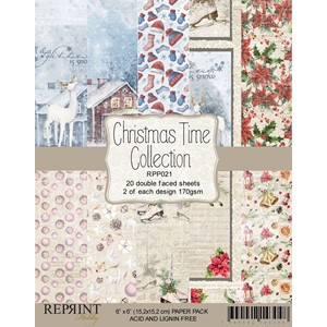 """Reprint Christmas Time 6x6 Inch Paper Pack (RPP021) Christm"
