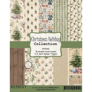 """Reprint Christmas Holiday Collection 6x6 Inch Paper Pack (R"