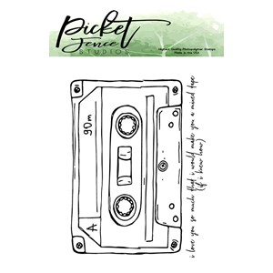 """Picket Fence Studios Mixed Tape Love Clear Stamps () Mixed"