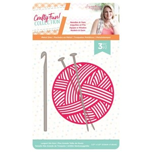 """Crafty Fun Needles & Yarn Die (S-CF-MD-NEED) Crafty Fun Nee"