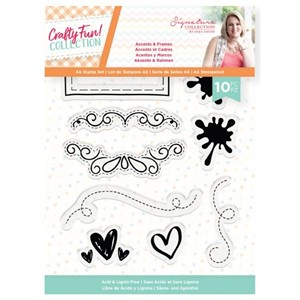 """Crafty Fun Accents & Frames Clear Stamps (S-CF-ST-  S-CF-ST"