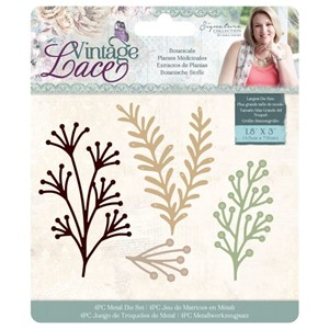 Crafters Companion Vintage Lace Dies Botanicals (S-VL-MD-BOT