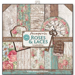 Roses & Laces 12x12 Inch Paper Pack (SBBL25)