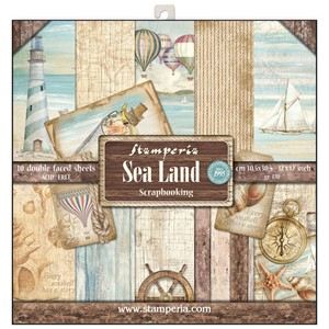 Sea Land 12x12 Inch Paper Pack (SBBL37)