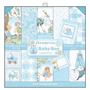Baby Boy 12x12 Inch Paper Pack (SBBL40)