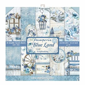 Blue Land 12x12 Inch Paper Pack (SBBL47)