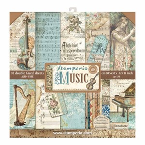 Music 12x12 Inch Paper Pack (SBBL48)