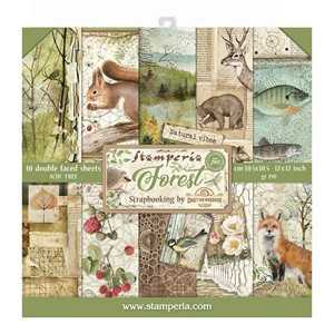 """Stamperia Forest 12x12 Inch Paper Pack (SBBL63) Forest 12x1"
