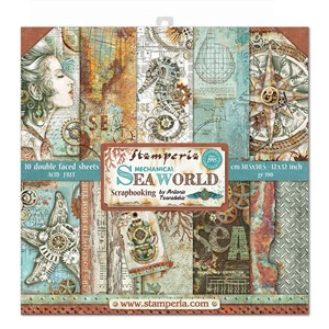 """Stamperia Sea World 12x12 Inch Paper Pack (SBBL64) Sea Worl"