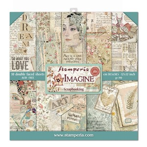 """Stamperia Imagine 12x12 Inch Paper Pack (SBBL65) Imagine 12"