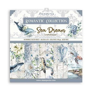 """Stamperia Romantic Sea Dream 12x12 Inch Paper Pack (SBBL87)"