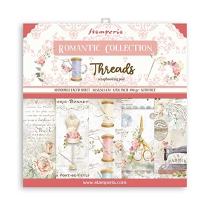 """Stamperia Romantic Threads 12x12 Inch Paper Pack (SBBL88) R"