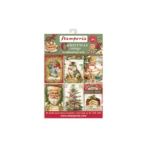 Stamperia Christmas Vintage Scrapbooking Cards (SBBPC07)