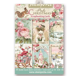 Stamperia Pink Christmas Scrapbooking Cards (SBBPC08)