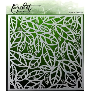 """Picket Fence Studios Funky Leaves Stencil () Funky Leaves S"