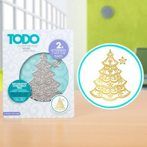 TODO Hot Foil Press Decorative Christmas Tree
