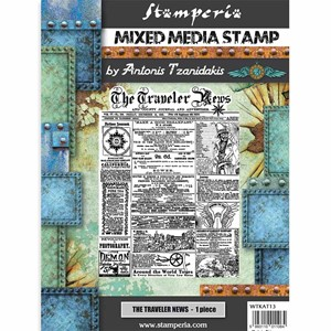 """Stamperia Mixed Media Stamp Sir Vagabond The Traveler News"