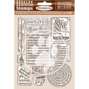 """Stamperia Natural Rubber Stamp Passion Music (WTKCC197) Nat"