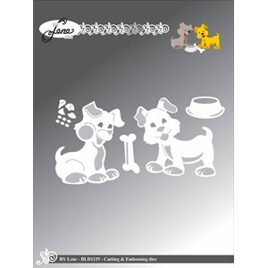 By Lene Cutting & Embossing Dies Dogs (BLD1129)