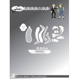 By Lene Cutting & Embossing Dies Boys (BLD1137)