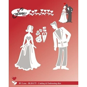 Wedding Couple Cutting & Embossing Dies (BLD1175)