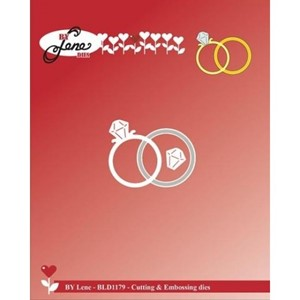 Wedding Rings Cutting & Embossing Dies (BLD1179)