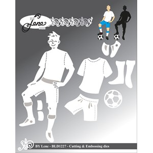 Football Player Cutting & Embossing Dies (BLD1227)