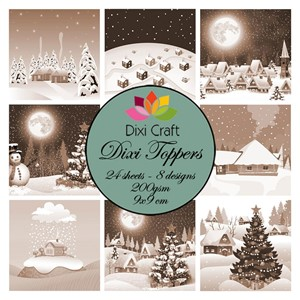 Toppers - Christmas Villages - Brown
