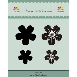 Dies & Clearstamp / Flower (4 pcs)