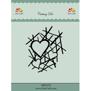 Dixi Craft Heart Grid Metal Die (MDL022)
