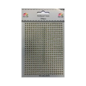 Adhesive halfpearl 500 pcs - Gold