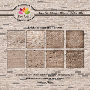 Paper pad / Bricks background / Brown