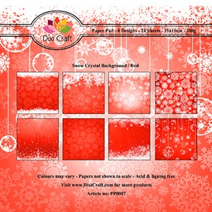 Paper Pad / Snow Crystal Background - Red