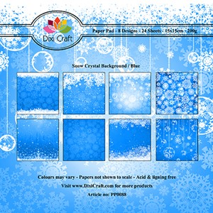 Paper Pad / Snow Crystal Background - Blue