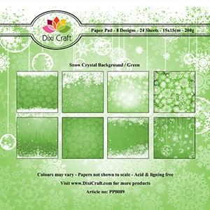 Paper Pad / Snow Crystal Background - Green