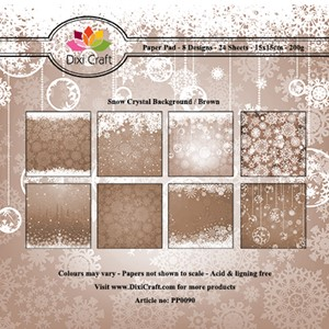Paper Pad / Snow Crystal Background - Brown