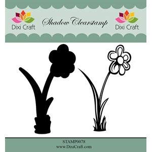 Shadow Clearstamp / Flower-3 (2 pcs)