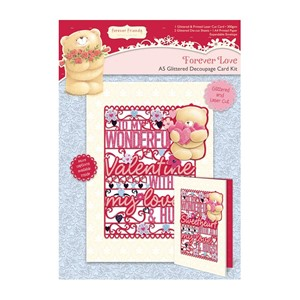 A5 Decoupage Card Kit - Forever Love - Valentine, 3 pk