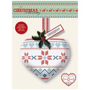 Cross Stitch Heart Kit - Christmas in the Country - Fair Isl