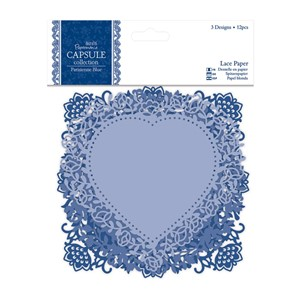 Lace Paper 12pcs - Parisienne Blue