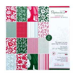 "6x6"""""""" Paper Pack - Capsule 32Pk Cranberry  Apple"