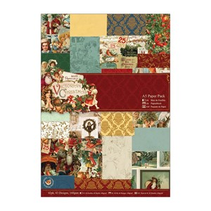 A5 Paper Pack 42pk - Victorian Christmas