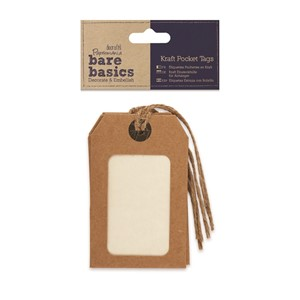 Kraft Pocket Tags - 1 pakke