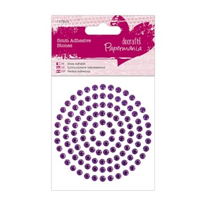 5mm Adhesive Stones 117pcs - Purple