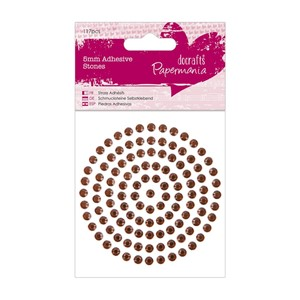 5mm Adhesive Stones 117pcs - Bronze