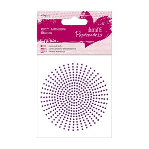 2mm Adhesive Stones 424pcs - Purple