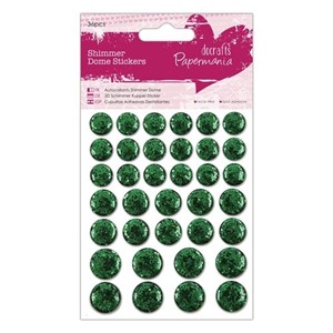 Shimmer Dome Stickers 36pcs - Green